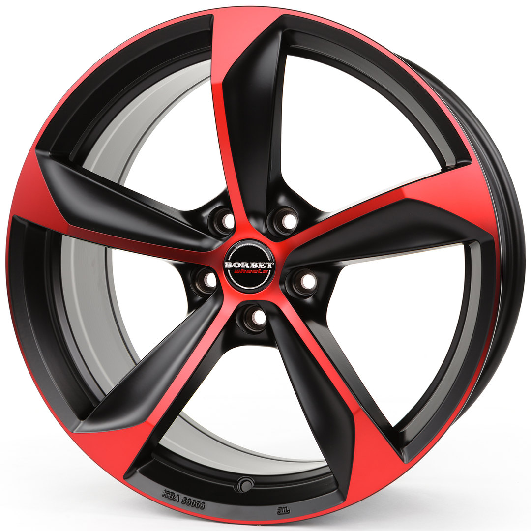 Borbet S black red matt