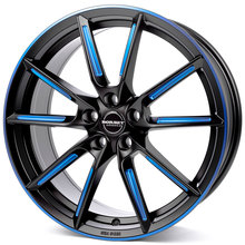 Borbet LX black matt spoke rim blue polished
